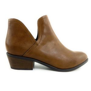 Breckelles Brown Faux Leather Ankle Boots